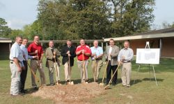 Dr. Jeff Glass and Lufkin Dignitaries Hold Groundbreaking for St. Cyprian's Episcopal School